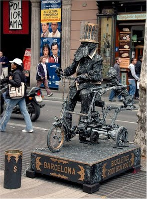 Statue on cycle