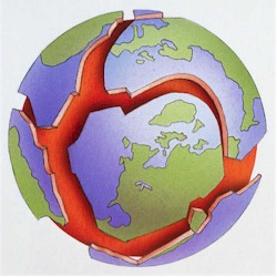 Earth tectonic plates