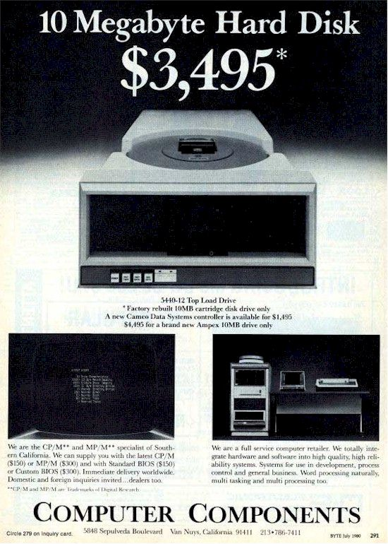 10MB HDD ad 1980