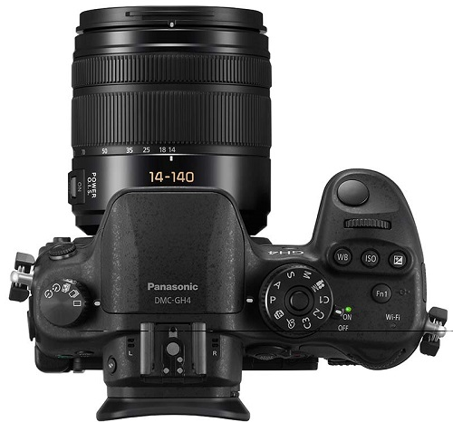 Panasonic Lumix GH4 top