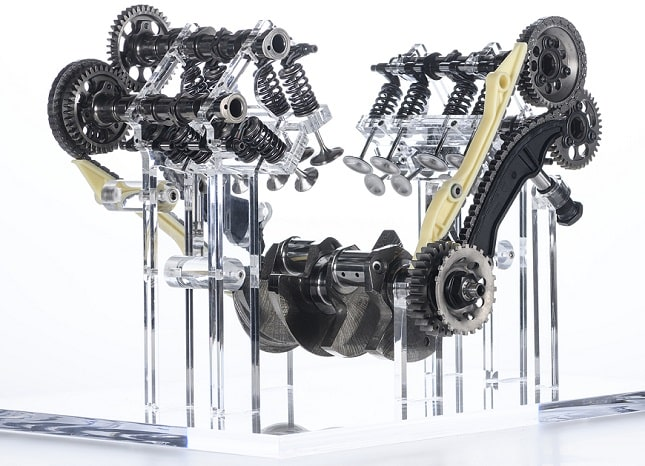 Ducati Multistrada V4 engine valve system