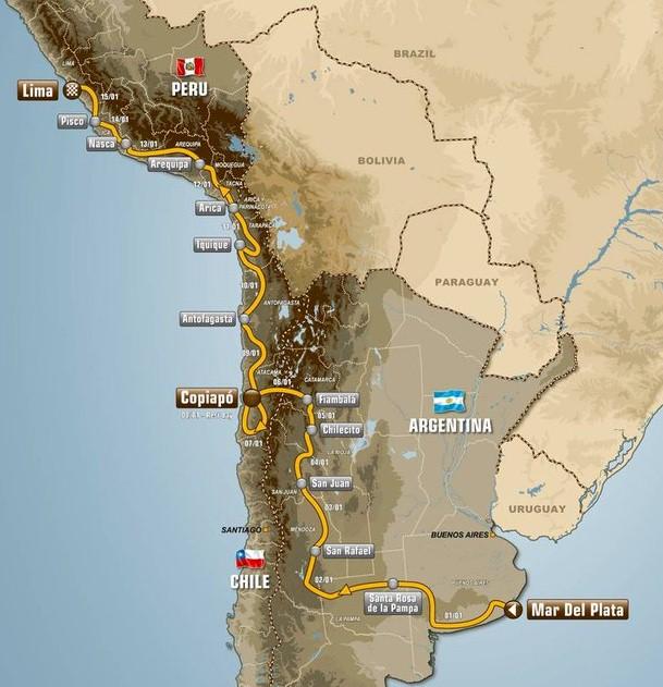 Dakar route 2012