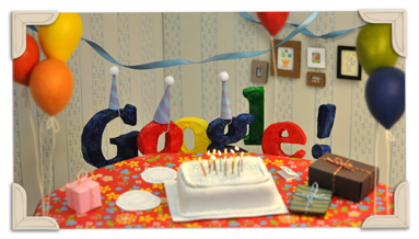 Google 13th birthday 2011
